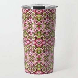 Delicate Floral Stripes Travel Mug