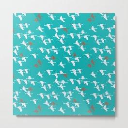 Blue gooses Metal Print