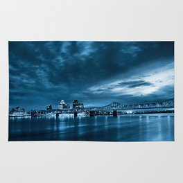 Skyline of Louisville Kentucky Rug
