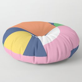 Abstract Geometric 17 Floor Pillow