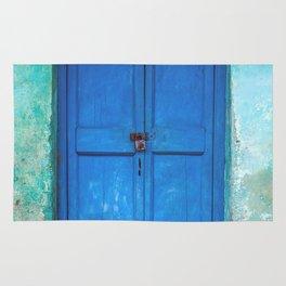 Blue Indian Door Rug