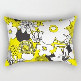 Floral Medley - Yellow Rectangular Pillow