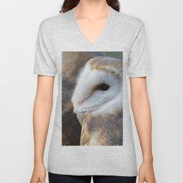 Barn Owl portrait Unisex V-Neck