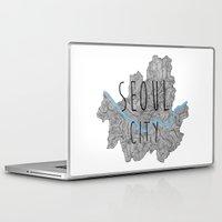 seoul Laptop & iPad Skins featuring Seoul city by Vania Pietronigro