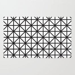 Diamond - black + white Rug