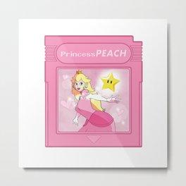 Gameboy Portrait Series - Princess Peach Metal Print