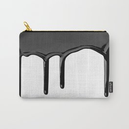 Black paint drip Carry-All Pouch