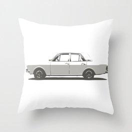 Ford Cortina 1600E Throw Pillow