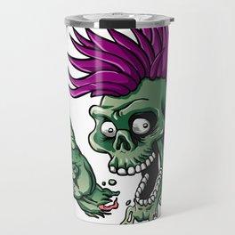 Punk zombie Travel Mug