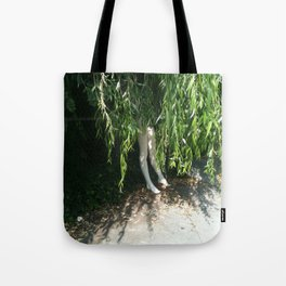 With Your Feet On The Ground Tote Bag