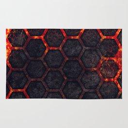 Lava Hexagons Rug