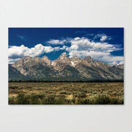 The Grand Tetons - Summer Mountains Canvas Print