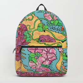 An Owl in Mourning Glory Backpack