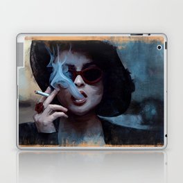 Marla Singer Smokes A Cigarette Behind Sunglasses - Fight Laptop & iPad Skin
