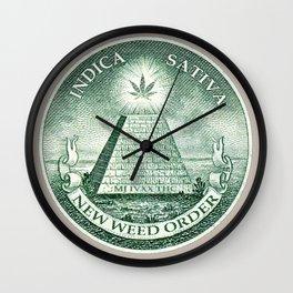 New Weed Order Wall Clock