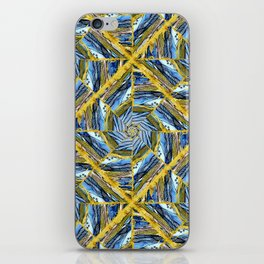 golden day kaleidoscope pattern iPhone Skin