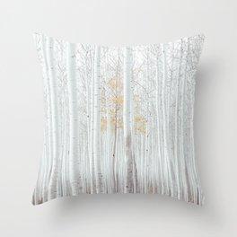 White tree forest Throw Pillow