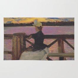 Marie Gallén at the Kuhmoniemi-bridge Rug