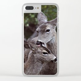 A Tender Moment Clear iPhone Case