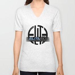 Elite Black/Powder w/ Badge Logo Unisex V-Neck