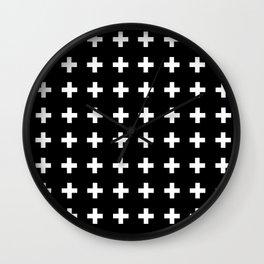 Swiss Cross Scandinavian Design Wall Clock