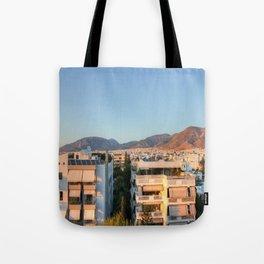 Evening Light Over Athens Tote Bag