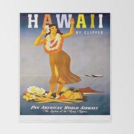 Vintage poster - Hawaii Throw Blanket