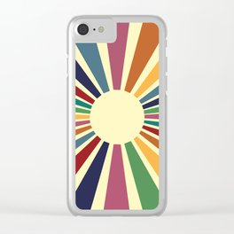 Sun Retro Art II Clear iPhone Case