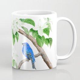 Royal Blue-Indigo Bunting in the Dogwoods by Teresa Thompson Coffee Mug