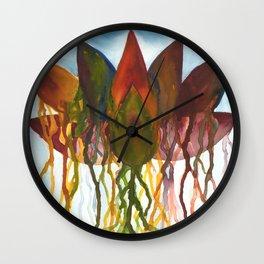 Dripping Lotus Flower Wall Clock