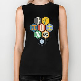 Math in color (white Background) Biker Tank