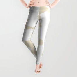 Large Spots - White and Pearl Brown Leggings