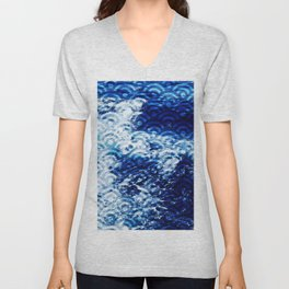 Waves of change Unisex V-Neck