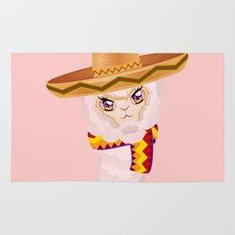 Cute Alpaca in Sombrero Rug