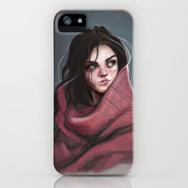 Wild Girl in the cold night iPhone Case