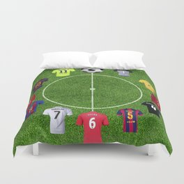 Football soccer best players clock Duvet Cover