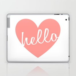 Hello Heart Wall Art #5 Pink Heart Laptop & iPad Skin