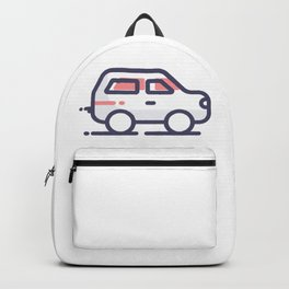 Car Lineart Icon Backpack