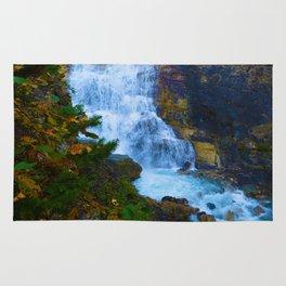 White Falls along the Berg Lake Trail in BC Rug
