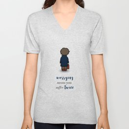 Worrying means you suffer twice - Newt Scamander Unisex V-Neck