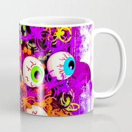 Eyeballs and Spiders Halloween Design Coffee Mug