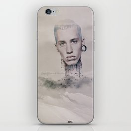 imperfections create character iPhone Skin