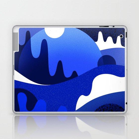 Terrazzo landscape blue night Laptop & iPad Skin