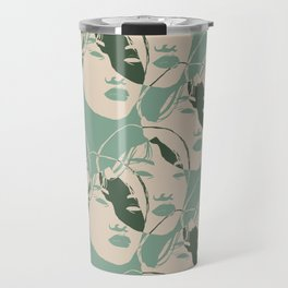 Stencil Faces Travel Mug