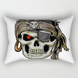 pirate skull with black bandana Rectangular Pillow