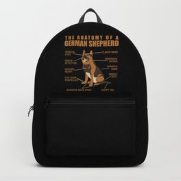 German Shepherd Anatomy Backpack