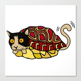tortoiseshell cat Canvas Print