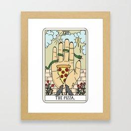 Pizza Reading Framed Art Print