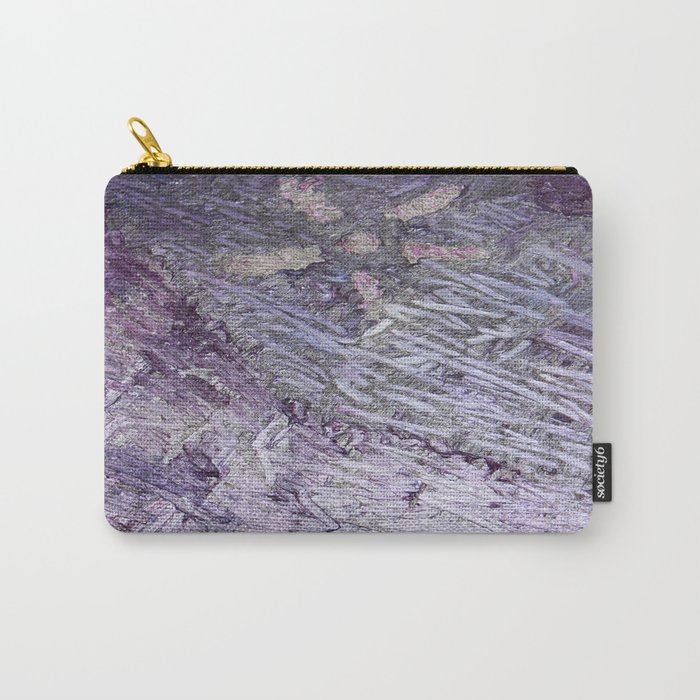 Purple-Starfish Carry-All Pouch