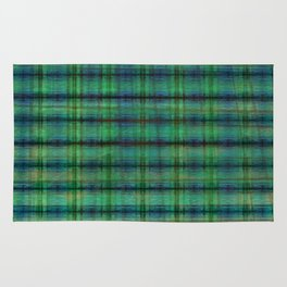 Forest Straw Plaid On Frozen Lake Rug